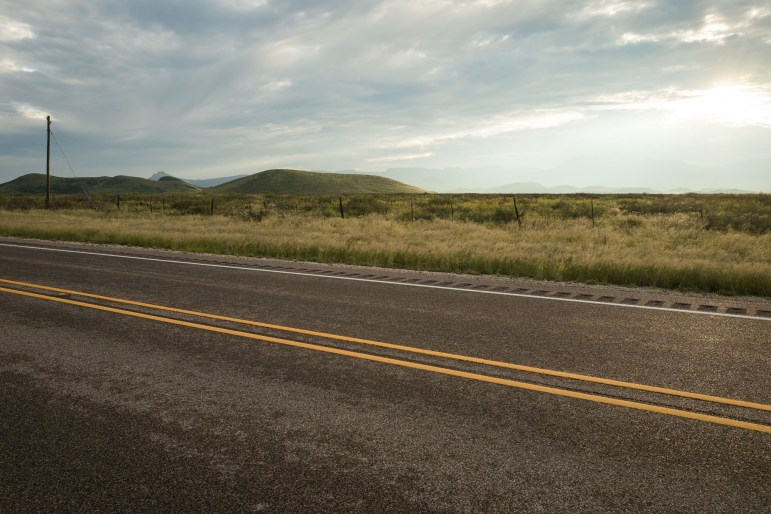 A roadside landscape on the side of Texas State Highway 17 heading north towards Balmorhea in West Texas. Photo by Scott Ball.