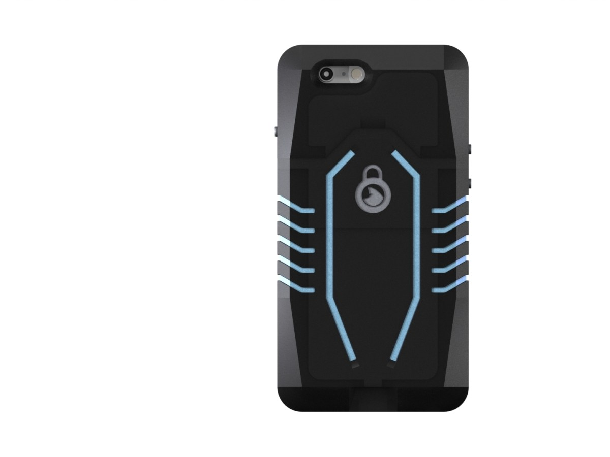LocShark's new tamperproof cellphone case has both GPS and a Bluetooth enabled locking mechanism.