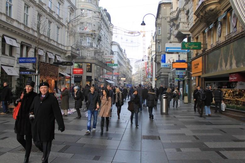 Vienna's Kärntner Straße. Photo by Robert Steinhöfel via Flickr.