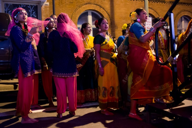 Dancers wait to take the stage at Diwali Festival.