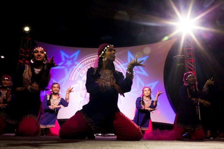 Dancers perform at Diwali Festival.