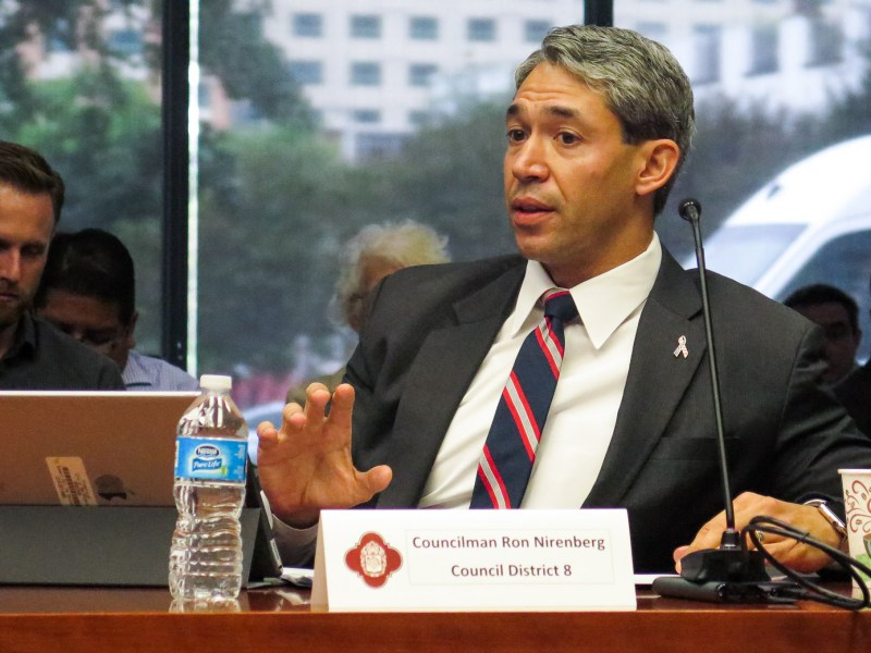 Councilman Ron Nirenberg (D8) calls for more City Council oversight of the Vista Ridge water pipeline project.