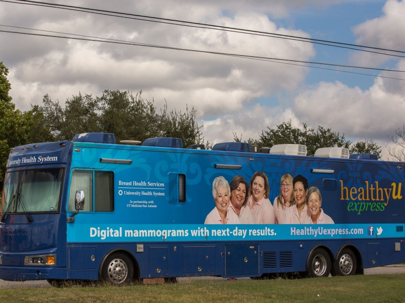 The A University Health System Healthy U Express mobile.