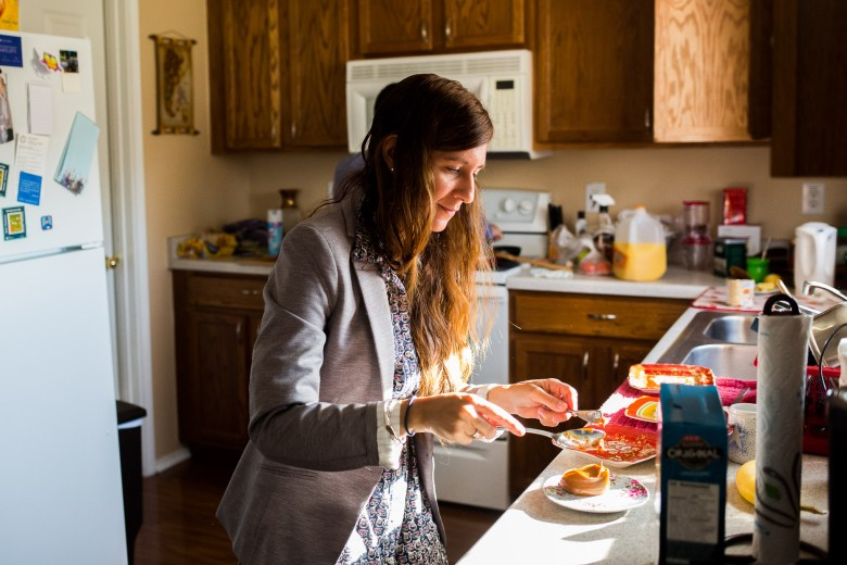Gabriella Colak, who was born and grew up in Argentina, prepares Dulce de leche for their morning breakfast.