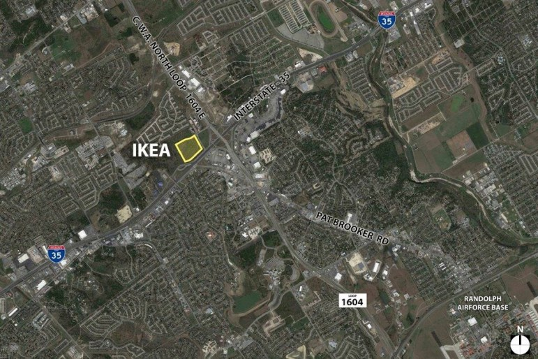Aerial map of proposed IKEA store in Live Oak.