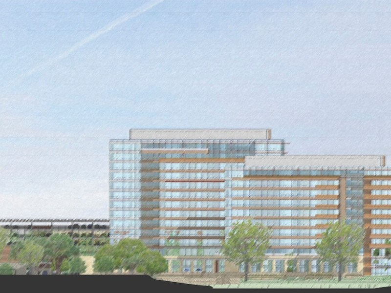 Preliminary design renderings for CPS Energy's new headquarters, looking north.