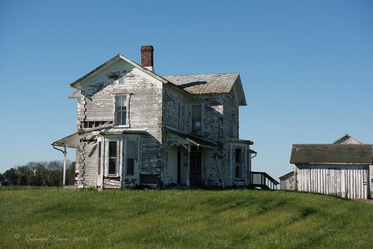 An abandoned Ohio farmhouse.