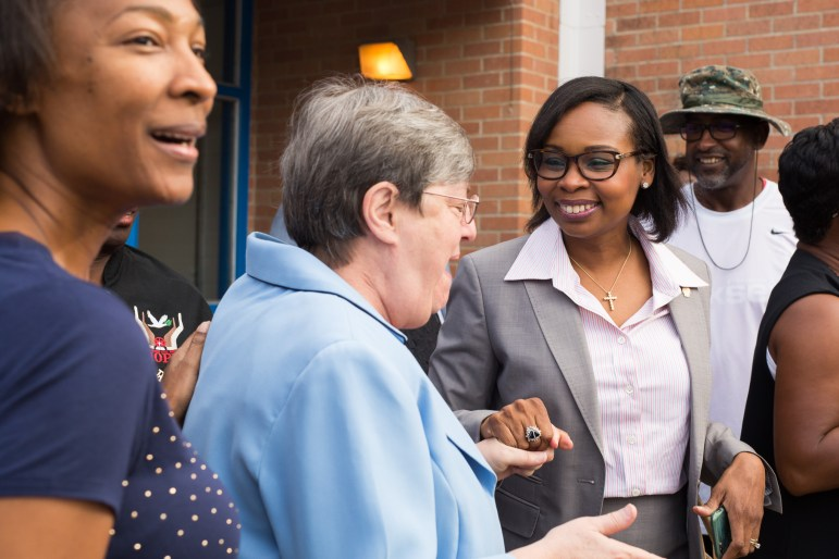 Mayor Ivy Taylor attends the the opening of the Eastside Education and Training Center.