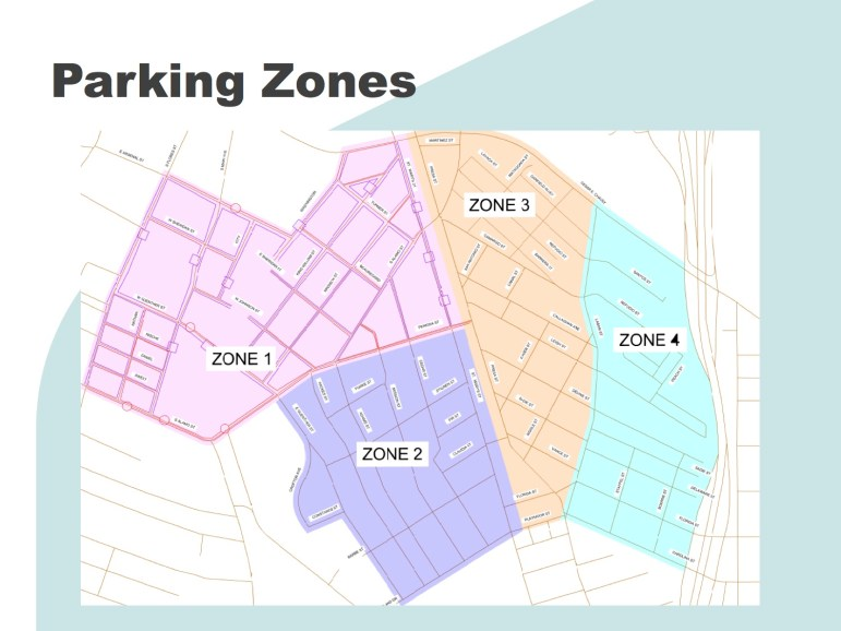 Preliminary suggestion of parking zones in King William and Lavaca.v