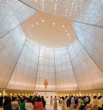 Xavier University Chapel, New Orleans, Louisiana, Pelli Clarke Pelli Architects.