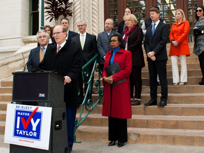 Bexar County Judge Nelson Wolff endorses Mayor Ivy Taylor for the 2017 mayoral race.
