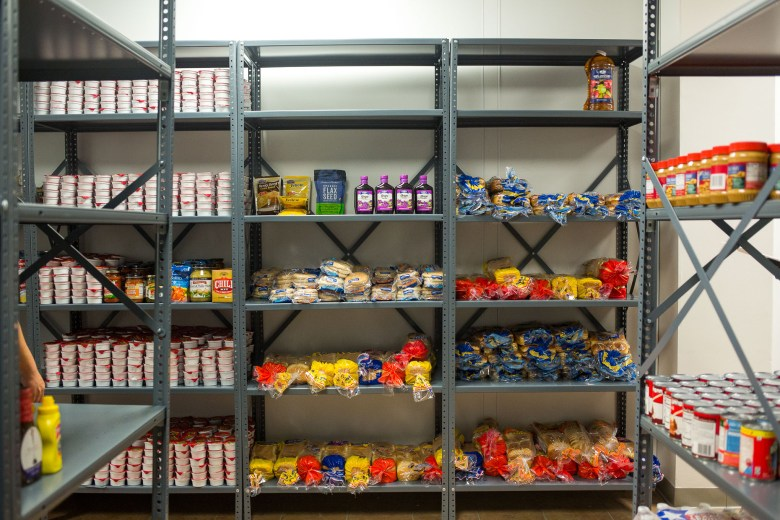 The S.H.A.R.E. Center (Student Health, Advocacy, Resource, and Engagement Center) food pantry includes a once-a-week distribution.