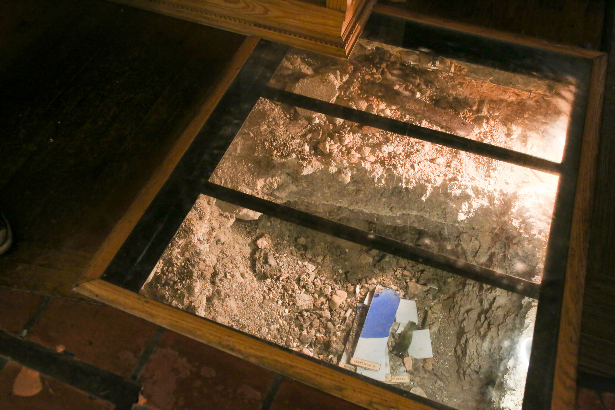 A dig in The History Shop was made to discover what discover what lay underneath The Alamo.