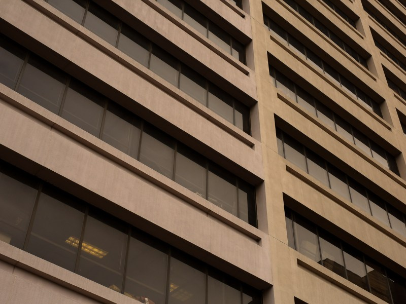 The 11-story building features windows facing the San Antonio River.