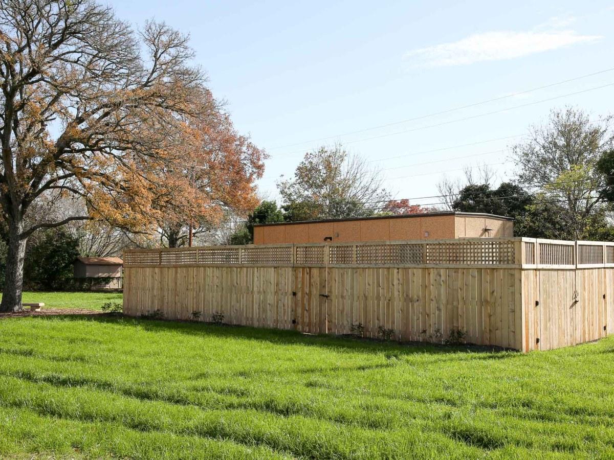The Google Fiber hut at Haskin Park.
