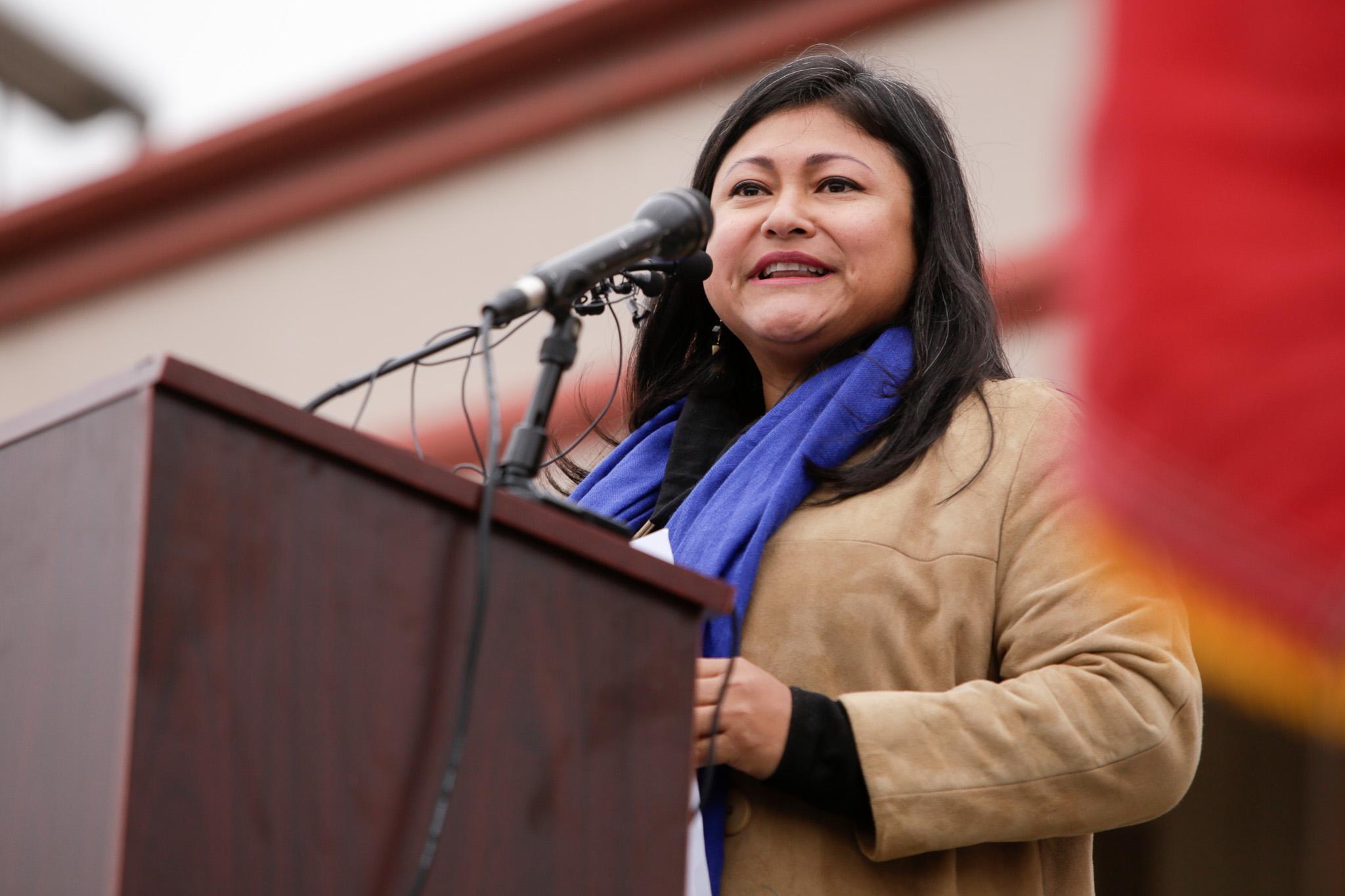 Erika Nirenberg speaks to her husbands commitment to the city of San Antonio.