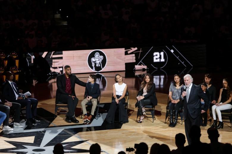 San Antonio Spurs Coach Gregg Popovich speaks to the time he met Tim Duncan.