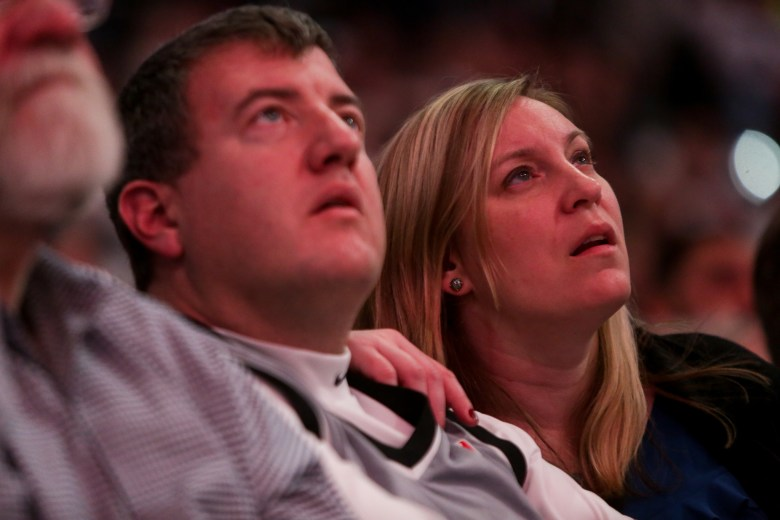 Sights of the fans during the ceremony retiring the jersey of Tim Duncan.