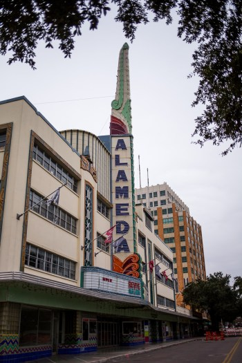 The Alameda Theater on a cold January day.