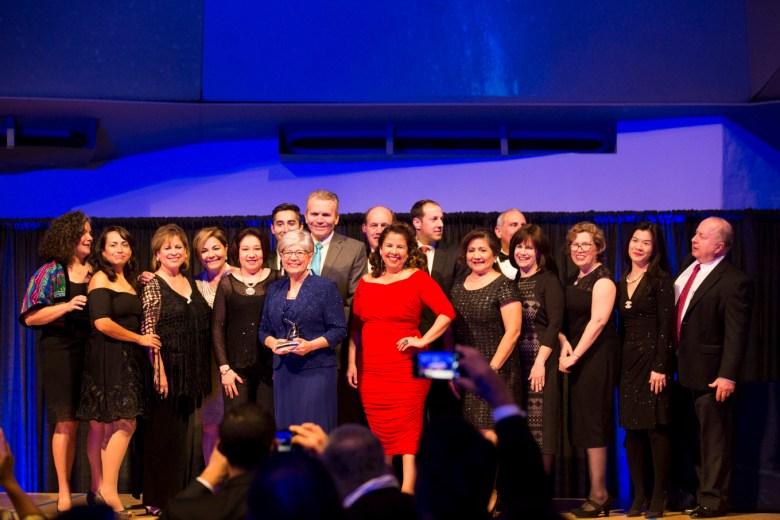LiftFund President and CEO Janie Barrera accepts the Regional Category Texas Star Heritage Award.