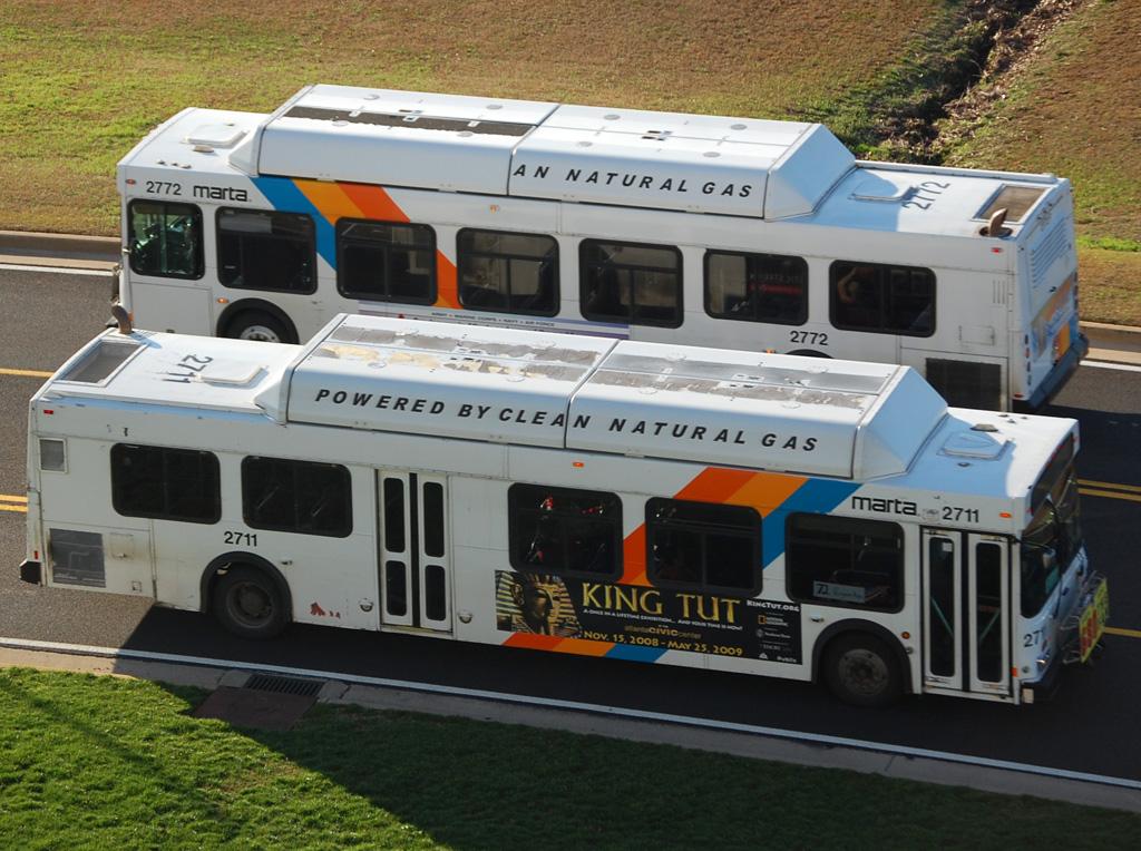 MARTA (Metropolitan Atlanta Rapid Transit Authority) buses in Atlanta Georgia.