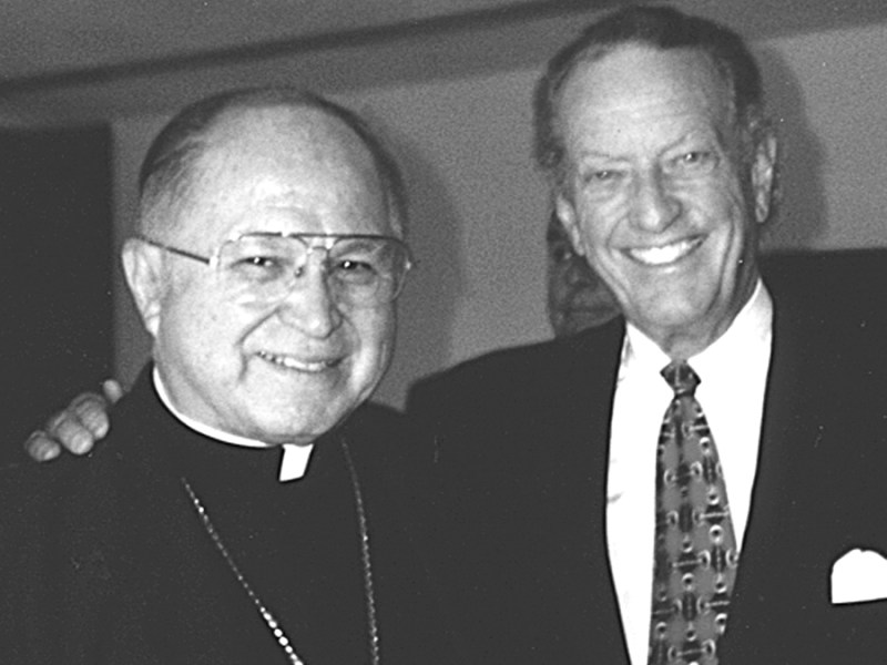 Archbishop Flores with the late Buckner Fanning.