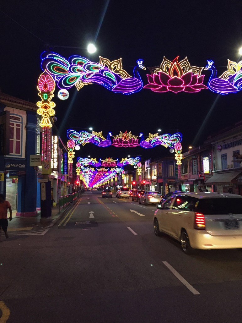 Singapore's Little India during Diwali, Hindu festival of lights.