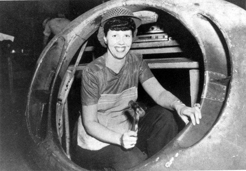"""Women took on jobs during World War II due to the absence of men. They were known as the """"Kelly Katies."""""""