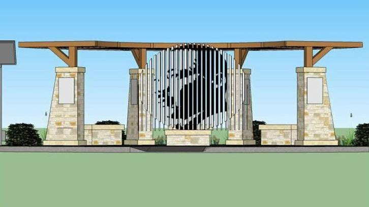 Brian Dillard Architecture rendering for an MLK monument in Martin Luther King Park.