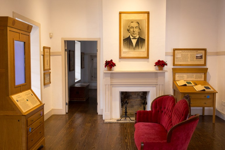 The parlor at Casa Navarro house was used for entertaining and is adjoined to his personal bedroom.