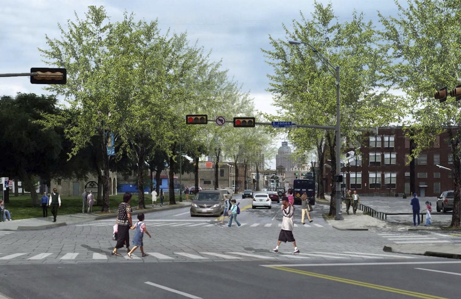 Preliminary rendering of what could be on Broadway Street at Jones Avenue (near the San Antonio Museum of Art).