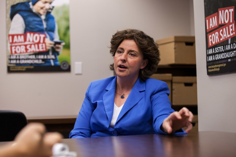 Kirsta Melton, a former Bexar County prosecutor who now leads the Texas Attorney General?s Office's sex-trafficking unit, in her Austin office on Sept. 26, 2016. Sex-trafficking convictions in Texas have climbed since 2011.