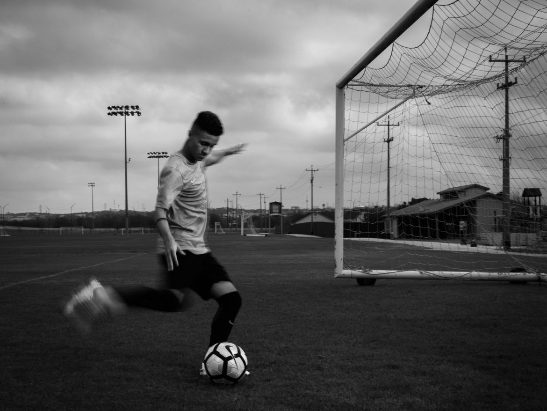 Devin Vega of San Antonio Football Club practices on Friday Feb 10th, 2017 in San Antonio, Texas.