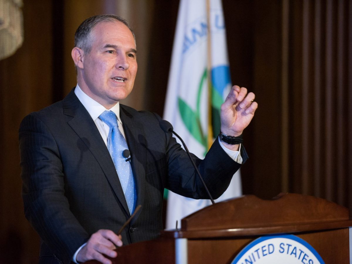 Administrator of the Environmental Protection Agency Scott Pruitt