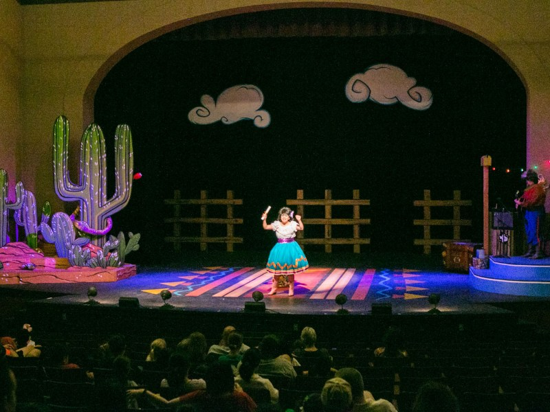"Magik Theatre actress Jovi Lee plays the role of Josefina Javelina in the sensory-friendly performance of ""The Three Javelinas."""