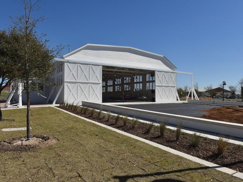 The remodeled Hangar 9 at Brooks City Base.