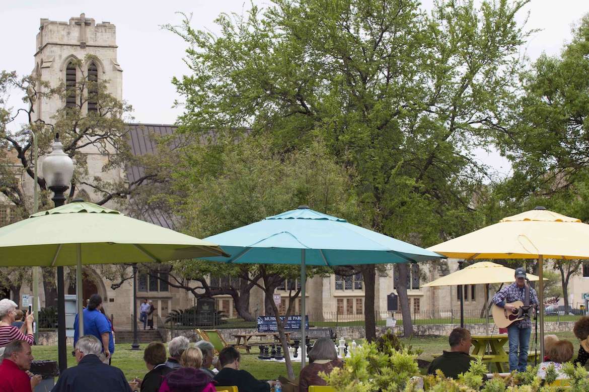 St. Mark's Episcopal Church kicked of its concert series in Travis Park during Lent.