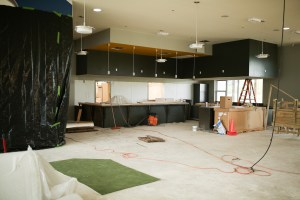 The golf simulator is located in the San Pedro Driving Range & Par 3 Golf Course's new clubhouse.