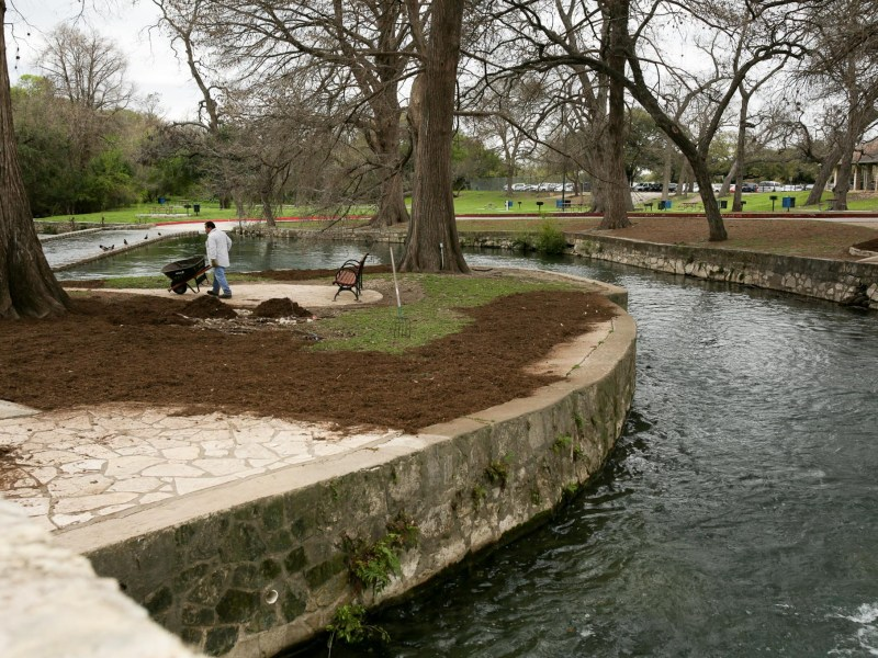 The San Antonio River flows through Brackenridge Park, which has been called one of the most significant archeological site in Texas.