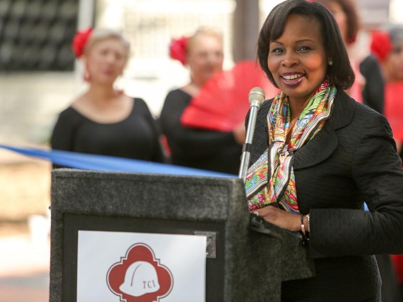 Mayor Ivy Taylor.