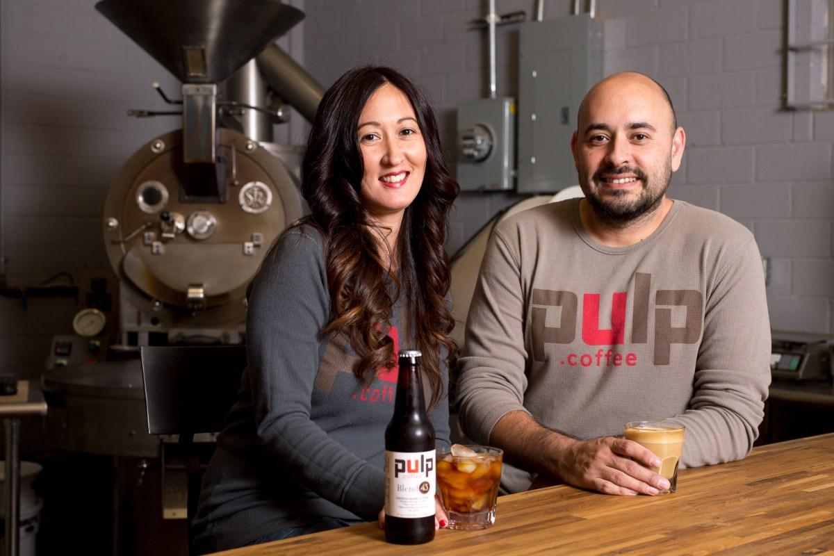 Liza Moreno and Pulp Coffee founder James Mireles run the coffee roasting facility at the Food Hub.