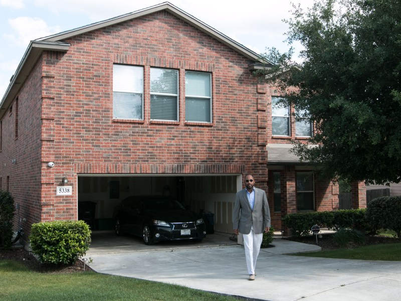 Keith Jordan stands outside of his property that he rents out via VRBO.