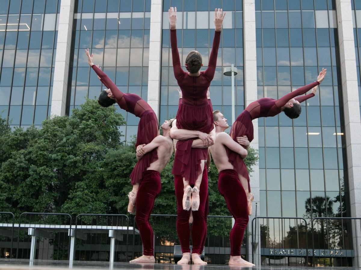 "Ballet San Antonio dancers perform ""Elements"" at Ballet in the Park."