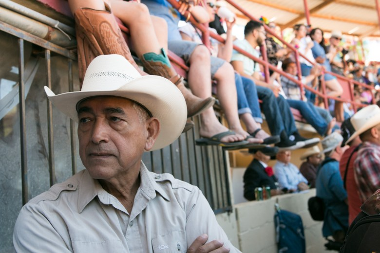 Francisco Perez stands at the entrance to the arena at A Day in Old Mexico & Charreada.