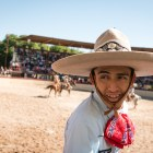 Charro Omar Salazar prepares to release a bull at A Day in Old Mexico & Charreada.
