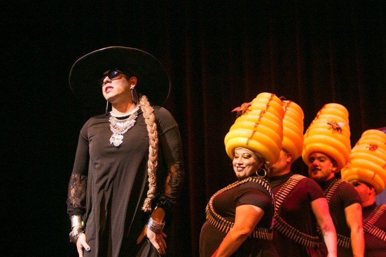 Actors play Beyonce and her bees in Cornyation at Charline McCombs Empire Theatre during Fiesta.