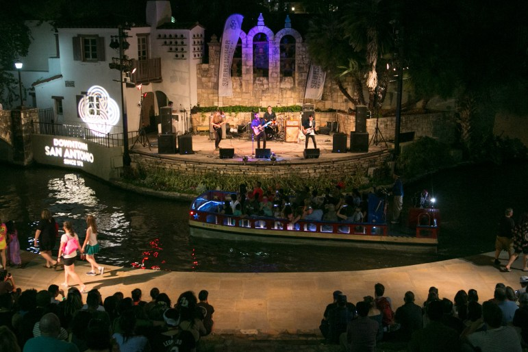 The Levees perform at the Arneson River Theatre during the Maverick Music Festival.