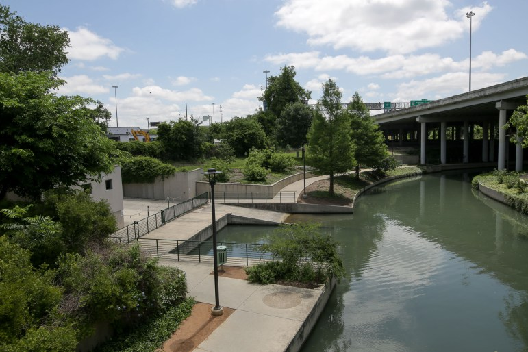 226 Newell abuts the San Antonio River.