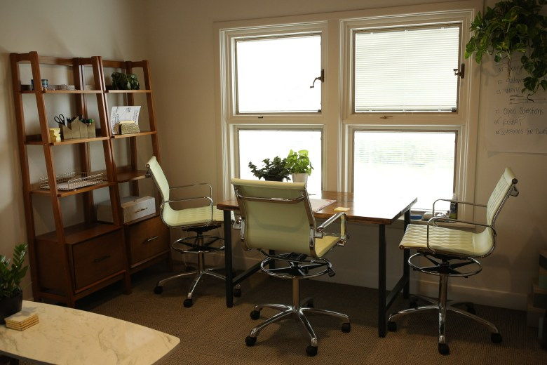 Private offices are also available for established startups.
