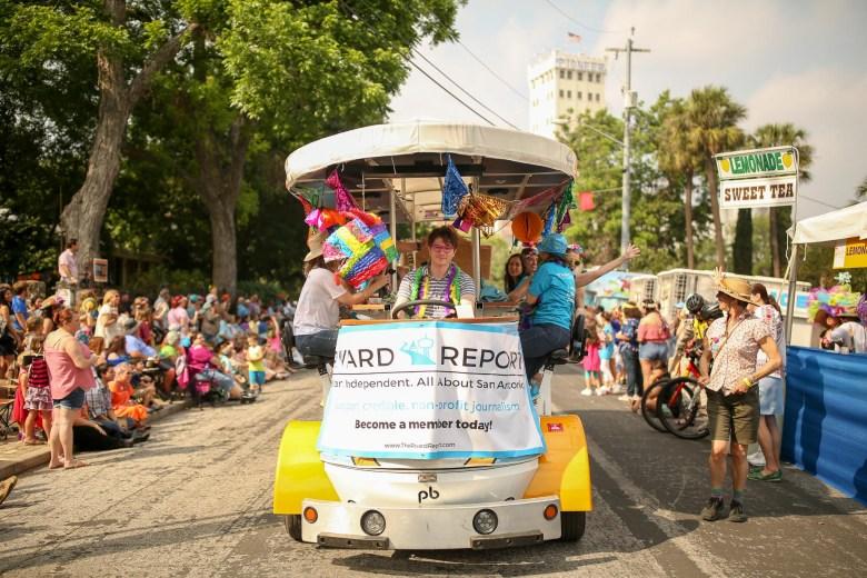 CycloFiesta carted the Rivard Report through the King Willam Parade.